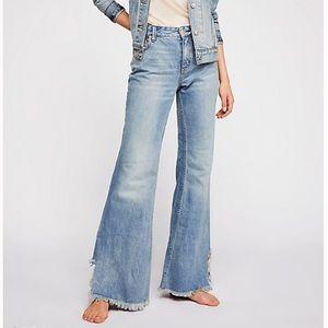 NEW! Free People Vintage Flare Jeans: Maya Blue